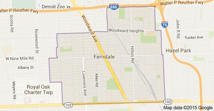 Ferndale Michigan Map.Fha Loan Ferndale Mi Mortgage Company Ferndale Mi